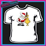 SANTA CLAUS REINDEER FATHER CHRISTMAS TSHIRT CHILDRENS MENS & LADIES SIZES